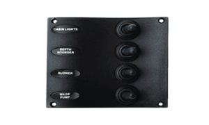 SeaDog Water Resistant Switch Panel w/4 Toggle Switches