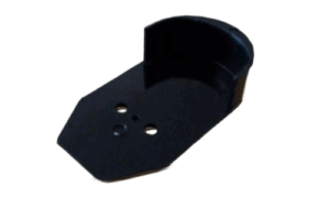 Rub rail endcap, black (Transom Mount)