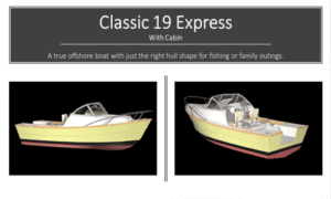 Classic 19 Express Boat Plans (CX19)