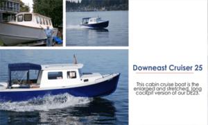 Down East Cruiser 25 Cabin Boat Plans (DE25)