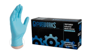 Disposable Nitrile Powdered Gloves<br>100 ct, Small