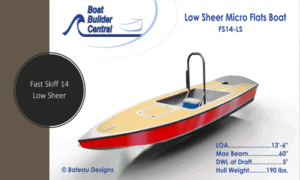 Fast Skiff 14 Low Sheer Boat Plans (FS14LS)