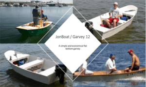 Jon Boat / Garvey 12 Boat Plans (GF12)