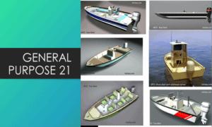 General Purpose 21 Base Boat Plans (GP21)