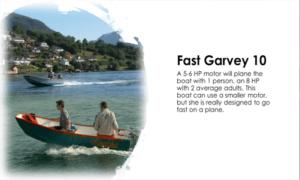 Fast Garvey 10 Boat Plans (GV10)