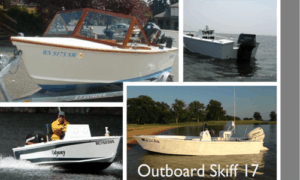 Outboard Skiff 17 Boat Plans (OB17)