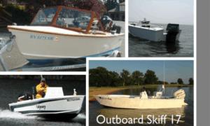 Outboard Skiff 17 Boat Plans (OB17)