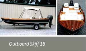 Outboard Skiff 18 Boat Plans (OB18)