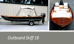 Outboard Skiff 18 Boat Plans (OB18)
