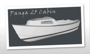 Panga 25 Cabin Boat Plans (PG25C)