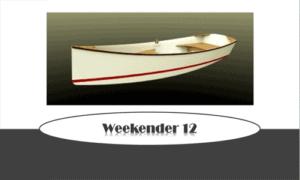Weekender 12 Boat Plans (WE12)