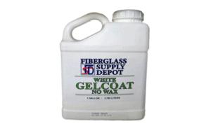 Gelcoat (No Wax), White, 1 Gallon