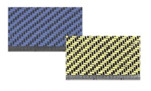 Carbon Fiber Kevlar Hybrid Cloth – 5.4oz./50″wide